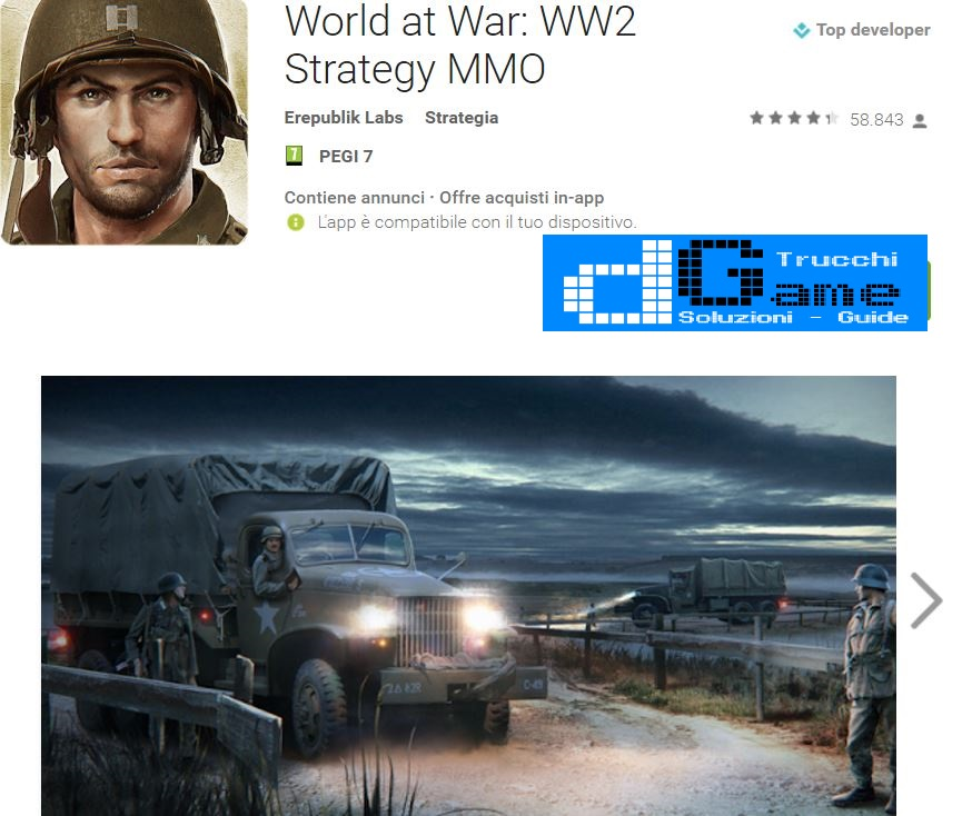 Trucchi World at War: WW2 Strategy MMO  Mod Apk Android v1.8.0