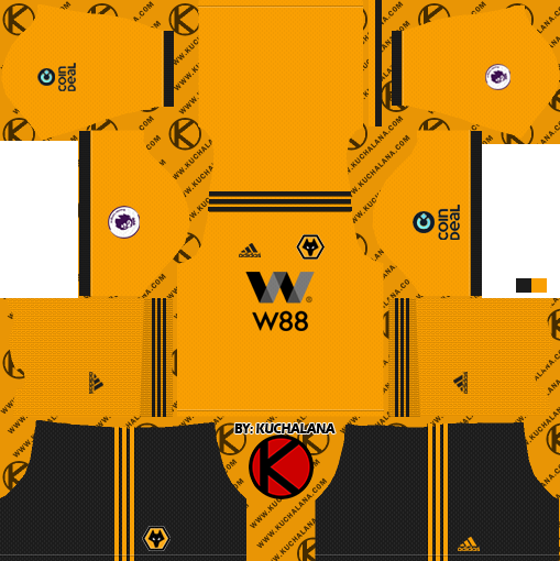 a86117fc4 Wolverhampton Wanderers FC 2018 19 Kit - Dream League Soccer Kits ...