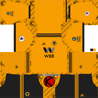 Wolverhampton Wanderers FC 2018/19 Kit - Dream League Soccer Kits