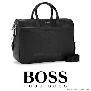 Queen Letizia style HUGO BOSS Laptop Bag
