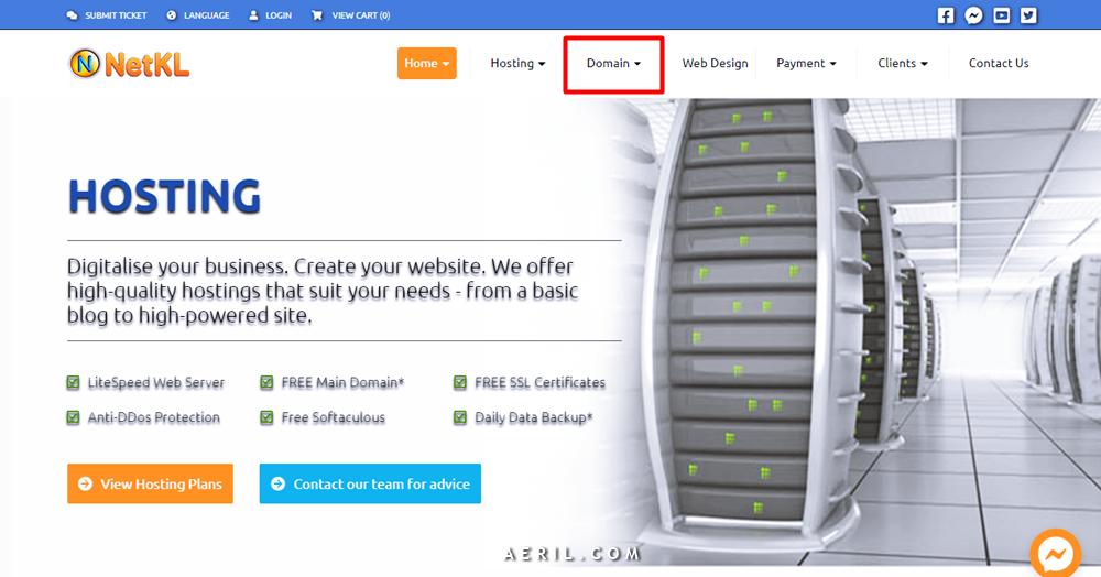 Panduan Mudah Beli Domain di NetKL