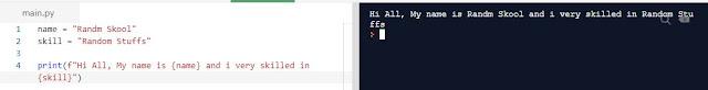Python Programming f-strings