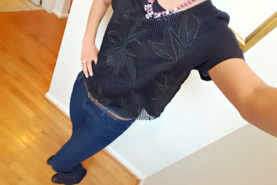 OOTD Dressed Up Top and Flared Jeans