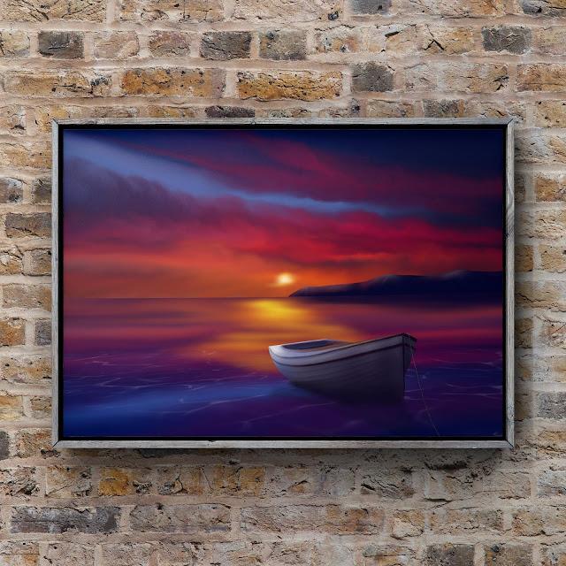 landscape art, landscape artist, boat art, Mark Taylor, Fine Art America,