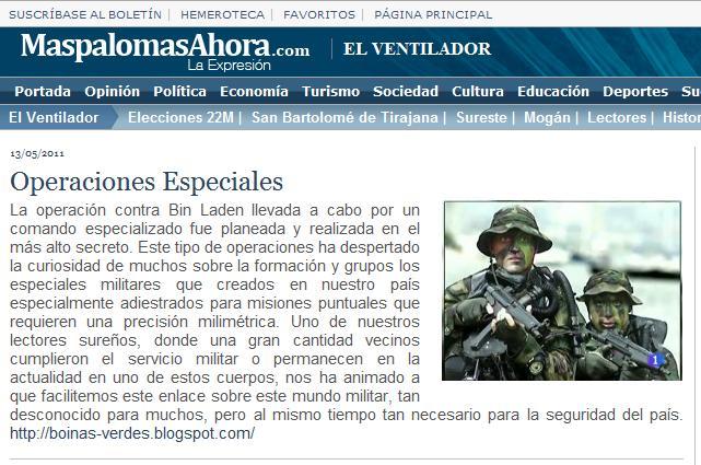 Green Berets - SF  NOTICIAS DE PRENSA RECIENTES - BOINAS VERDES 53a9cbbf70d