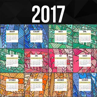 2017カレンダー無料テンプレート236