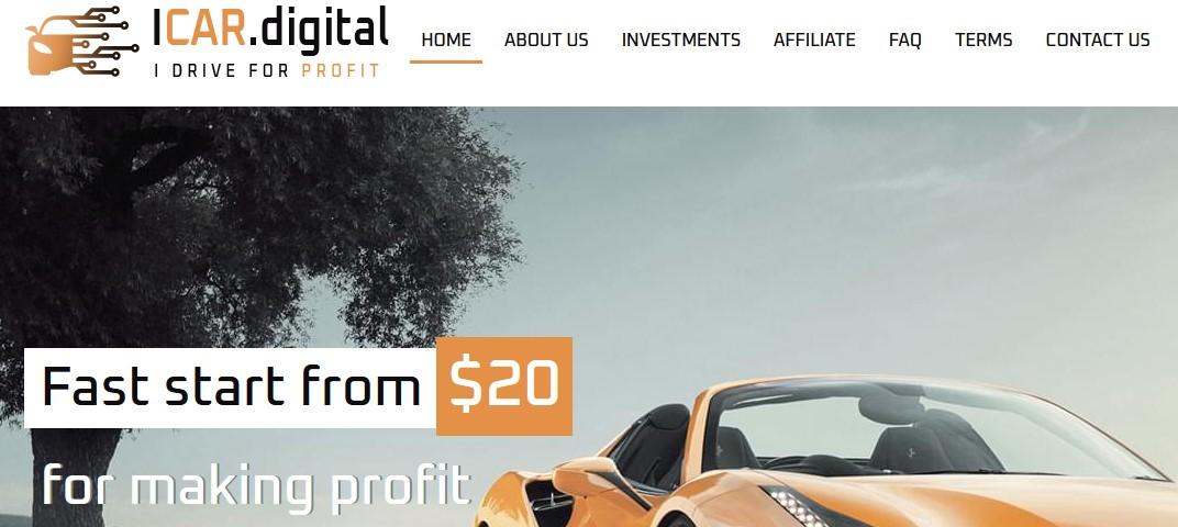Мошеннический сайт icar.digital – Отзывы, развод, платит или лохотрон? Мошенники