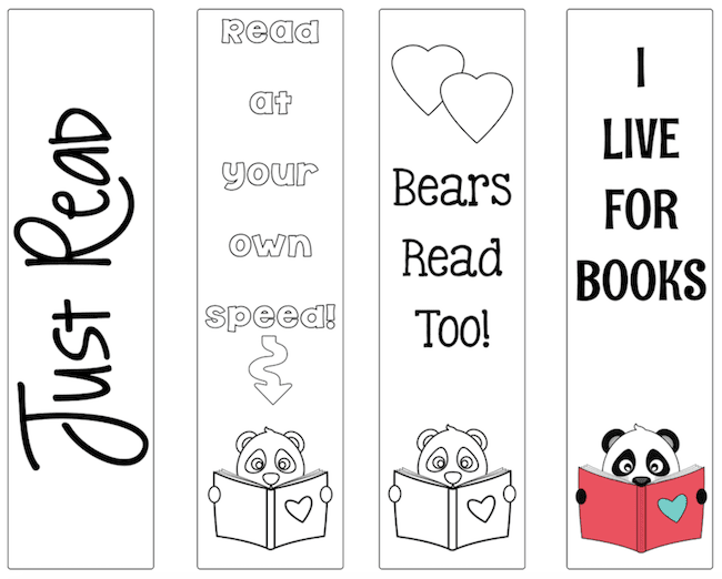 4 cute bear bookmarks. Free!