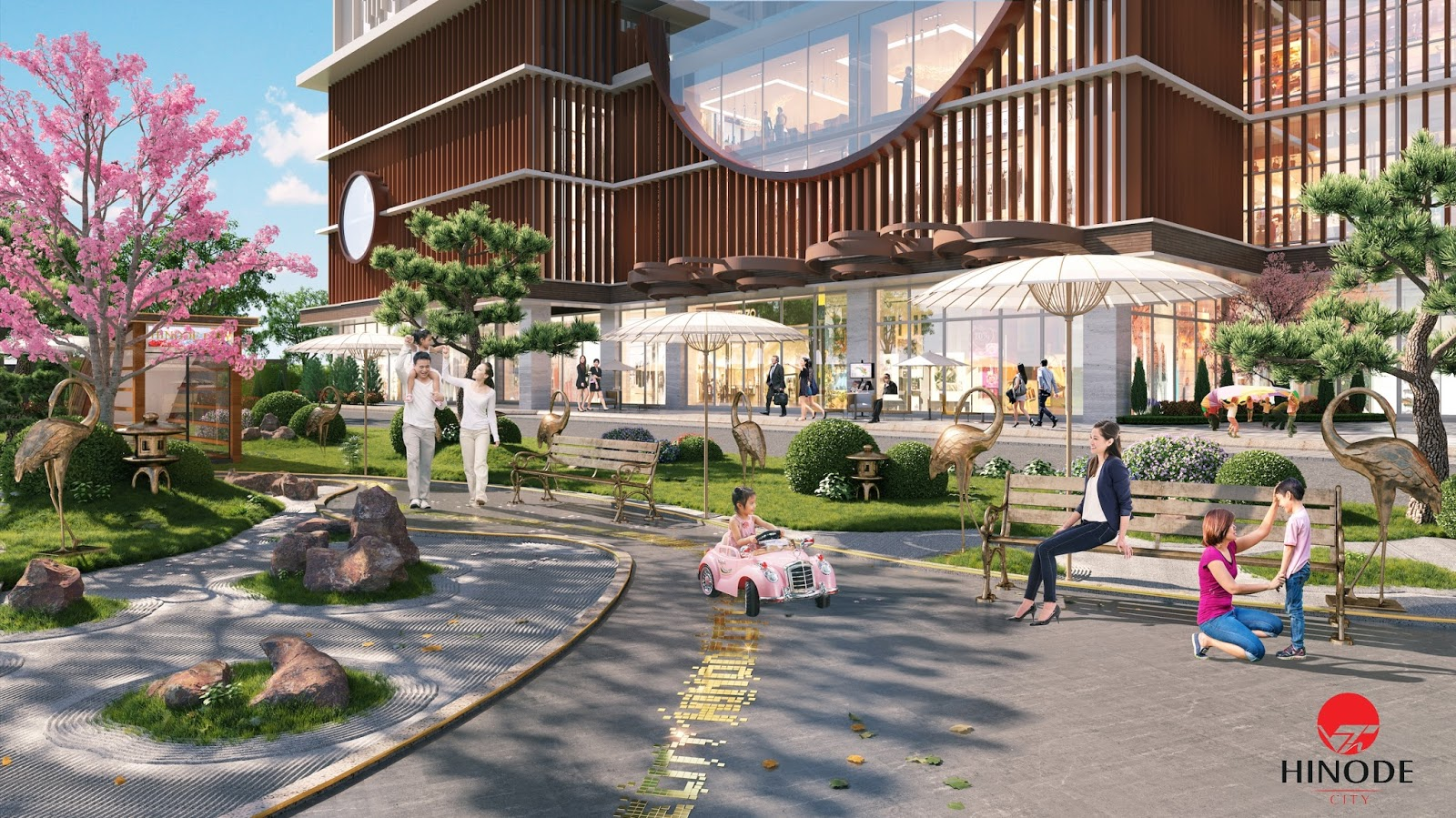 Hinode City - cảnh quan kiến trúc của Nhật Bản