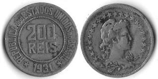 Moeda de 200 Réis, 1931