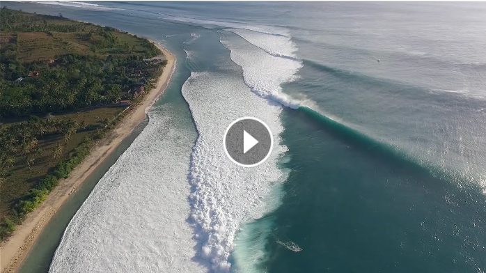 Surfing Desert Point July 2021