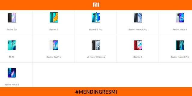 Daftar HP Xiaomi Resmi di Indonesia