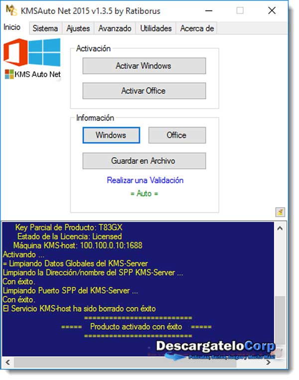 KMSAuto Net 2015 Portable Español Activador de Windows y Office