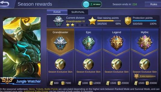 Skin Eksklusif Season 13 Hylos - Jungle Watcher