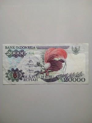 20000 rupiah tahun 1995