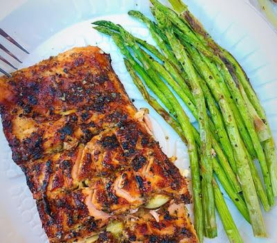 1200 Calorie Diet - Grilled Salmon