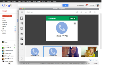Calls return to Gmail through Hangouts update