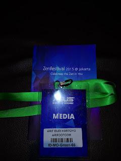 Dapat ID dan Buku pedoman Zenfestival 2015