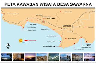 Rute ke lokasi penginapan Mulan Pantai Sawarna