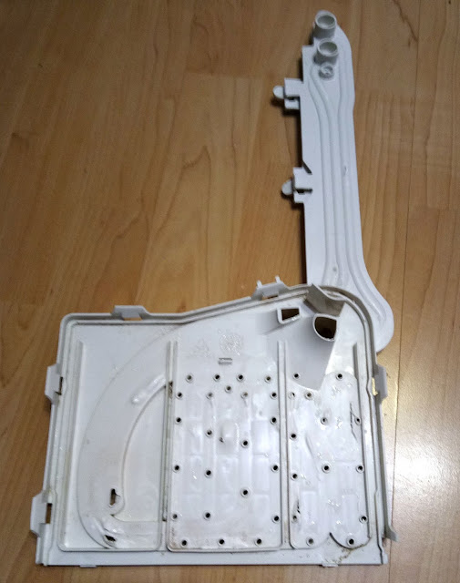 Washing machine water inlet distribution box teardown (bottom side)