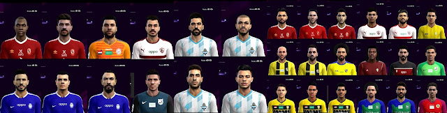 PES 2013 Egyptian League Faces by Mohamed Sameh Facemaker