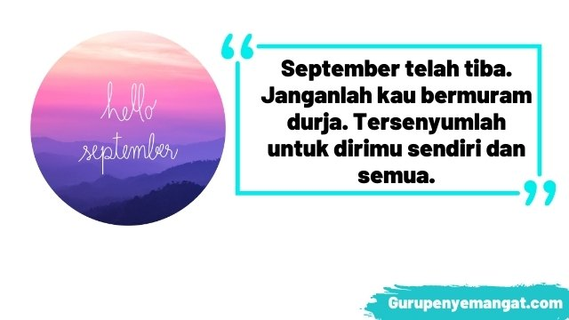 Kata-kata Bijak Ucapan Selamat Datang Bulan September