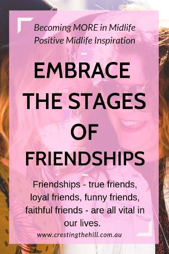 Friendships - true friends, loyal friends, funny friends, faithful friends - are all vital in our lives. #friendship