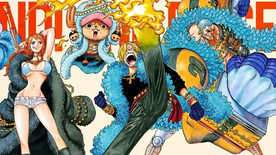 Nami, Chopper, Sanji, Franky, One Piece, 4K, #6.121