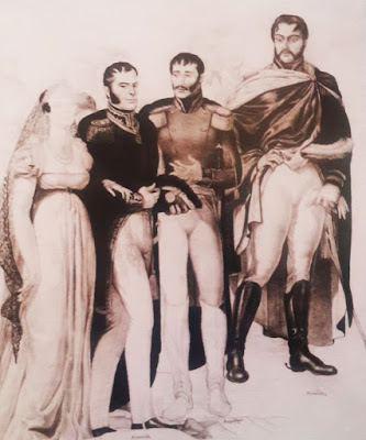 Arismendi y su esposa, Luis Cáceres, además de Anzoátegui y Bermúdez, según Pedro Centeno Vallenilla.