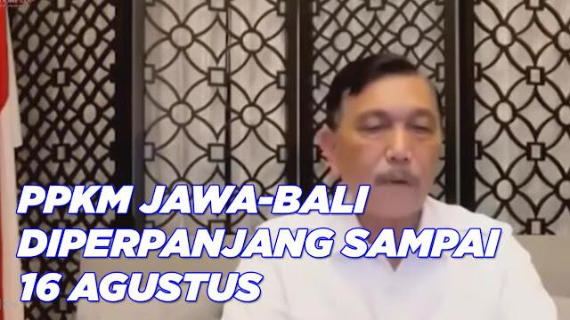 Presiden Jokowi Umumkan Perpanjang PPKM Level 4 Jawa-Bali Sampai 16 Agustus