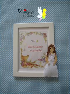 elbosquedelulu-marco-foto-comunión-personalizado-fieltro-felt-muñeca-feltro-hechoamanoparati