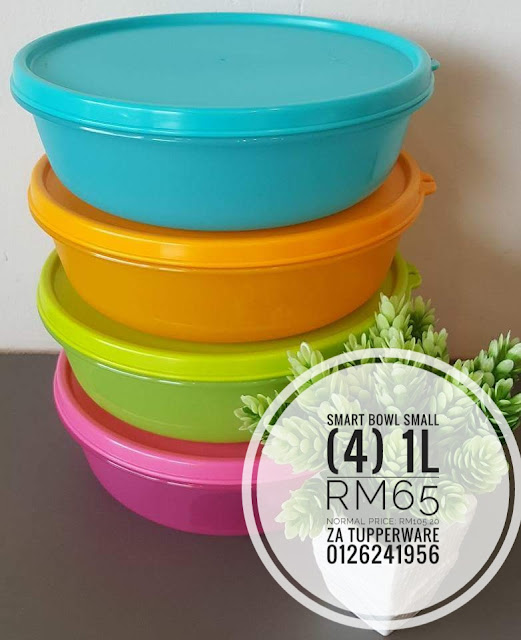 Tupperware  Smart Bowl (4) 1L