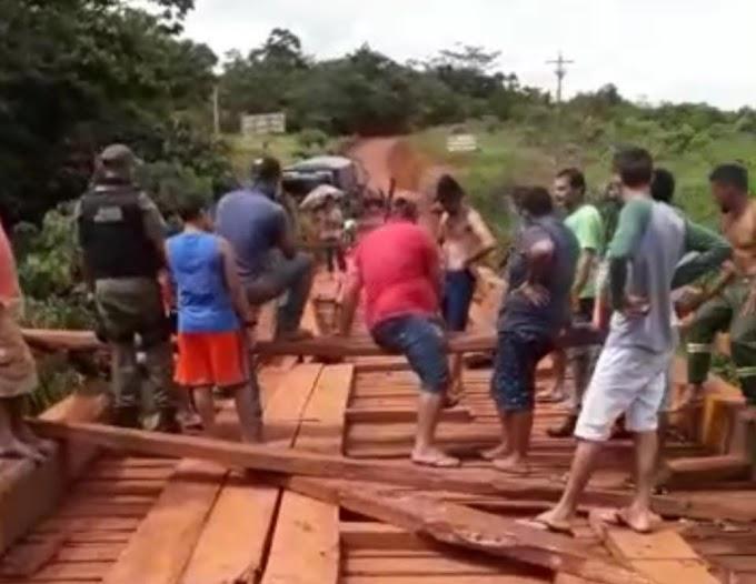 BR230: Protestos fecham ponte em Medicilândia