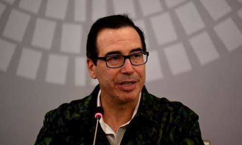 Bộ trưởng Mnuchin phát biểu trong cuộc họp báo tại Bali, Indonesia hôm 13/10