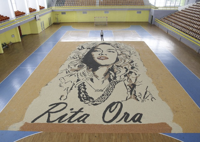 Rita ora mosaic in cereals by Pozhegu