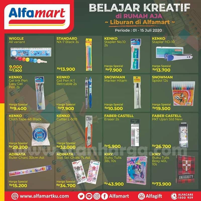 Alfamart Promo Harga Spesial Alat Tulis & Buku [Produk Stationeri] Periode 1 - 15 Juli 2020