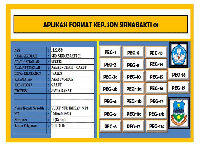 Aplikasi Administrasi Kepegawaian Guru dan Kepala Sekolah Format Excel