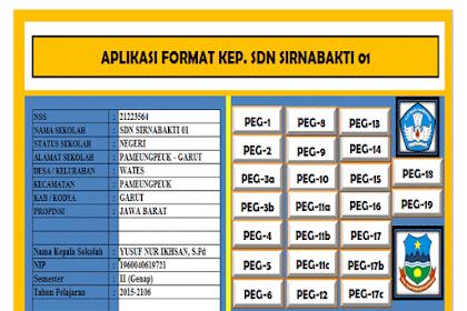 Aplikasi Kepegawaian Guru dan Kepala Sekolah Format Excel