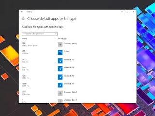 Search Default Apps Windows 10 Build 20211