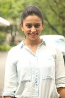 Rakul Preet Singh in Jeans and White Shirt At Jaya Janaki Nayaka le Logo Launch ~  Exclusive 056.JPG