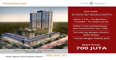 Apartemen West Vista.Apartemen West Vista merupakan satu dari sekian proyek yang dibesarkan oleh Keppel Land Singapura, yang telah berpengalaman membangun banyak proyek besar di Singapore. Apartemen ini berlokasi di Jalan Lingkar Luar Barat Jakarta, yang menjadikannya gampang diakses dari pusat bisnis utama serta dekat dengan Lapangan terbang Soekarno- Hatta. Mengamati sejauh jalur Lingkar Luar Barat, meliputi zona Jarum Kosambi, Cengkareng serta Puri Indah, Kamu hendak memandang maraknya pembangunan tower residensial dari bermacam- macam pengembang raksasa. Harga jualnya juga relatif terjangkau, setimpal dengan sarana serta konsep bangunan yang diusung.