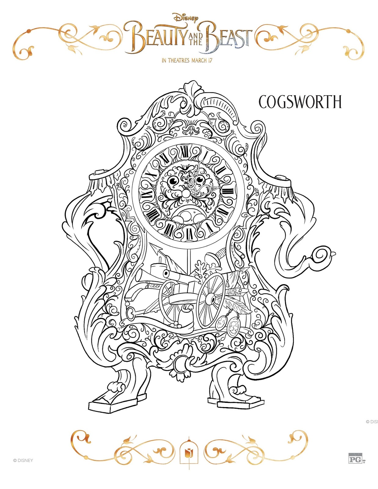 Sasaki Time Beauty And The Beast Coloring Sheets