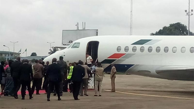 Togolese president Faure Gnassingbe welcomed by Ambode, Dangote, others in Lagos