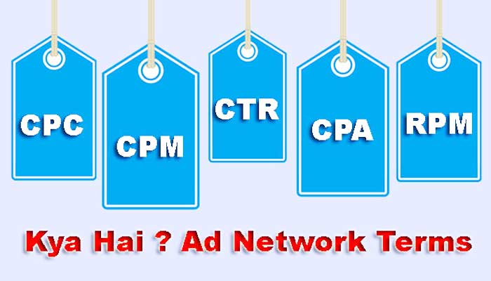 CPC, CPM, CTR, CPA, RPM Full Form