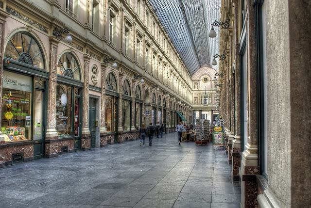 Galeria Saint Hubert em Bruxelas