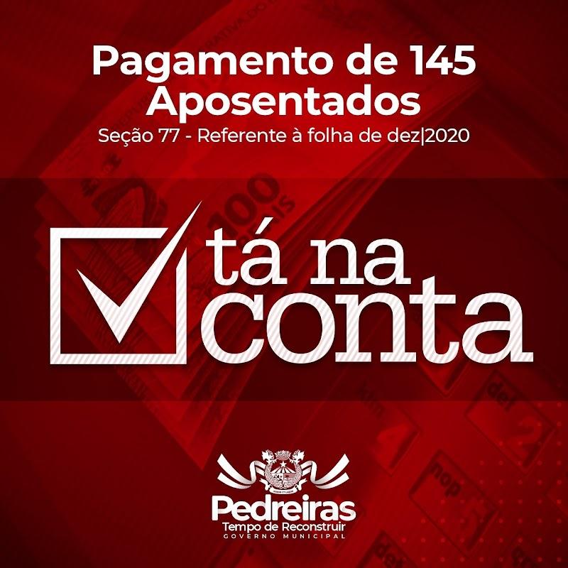 Prefeitura paga mais uma parte dos aposentados de Pedreiras com salários atrasados da gestão anterior.