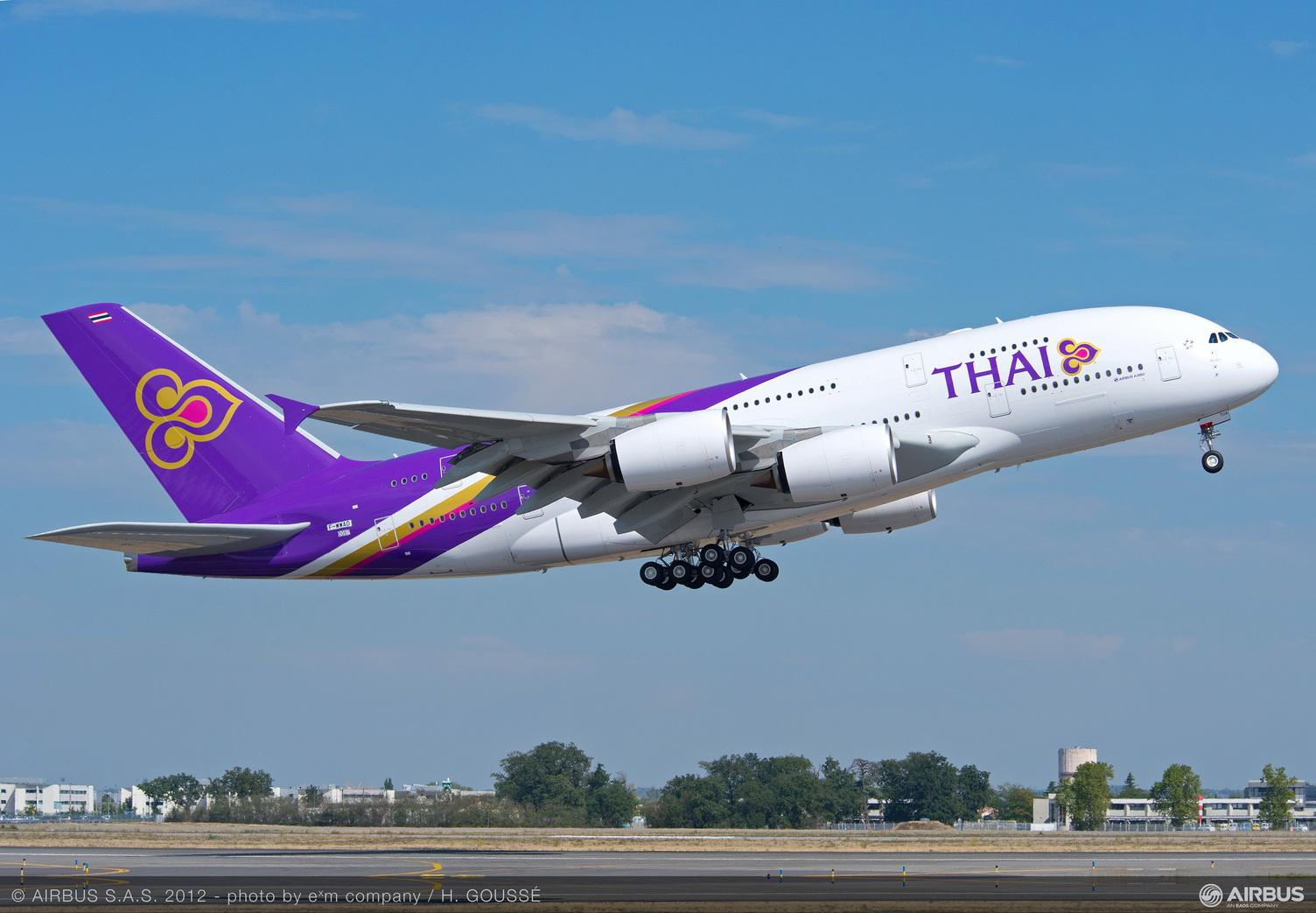 Plan de cabine Thai Airways International Airbus A380 800 Fr