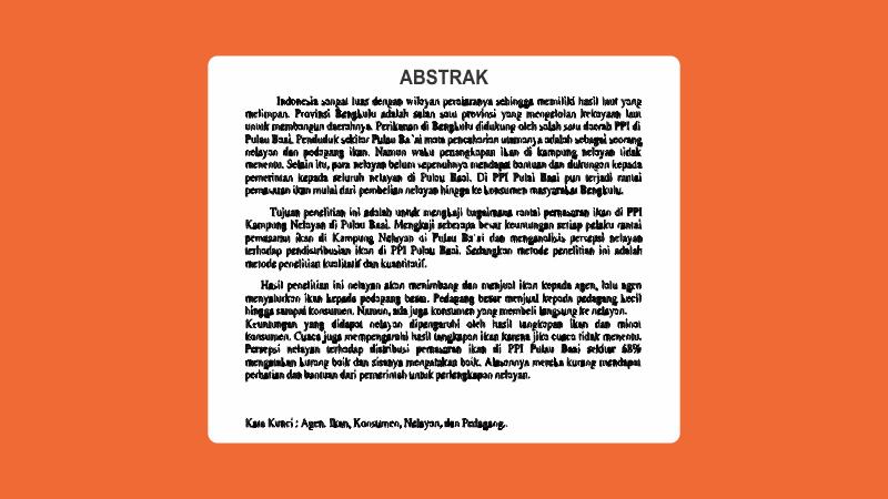 Cara Membuat Abstrak Skripsi Lengkap Contoh