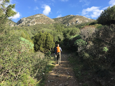 Start of hike near Porto Flavio.