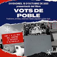 """15 d'OCTUBRE: """"VOTS DE POBLE"""" A ALTAFULLA"""